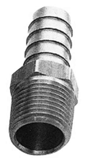 """Straight Fuel Hose Fittings (Pr); 3/8"""" NPT to 1/2"""" I.D.- BRASS picture"""