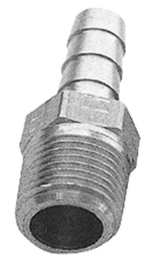 """STRAIGHT Fuel Hose Fitting; 3/8"""" NPT to 3/8"""" I.D.- BRASS picture"""