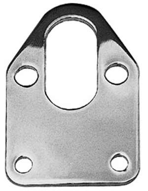 FUEL PUMP Mounting Plate and Gasket; SB Chevy 283-400-CHROME picture