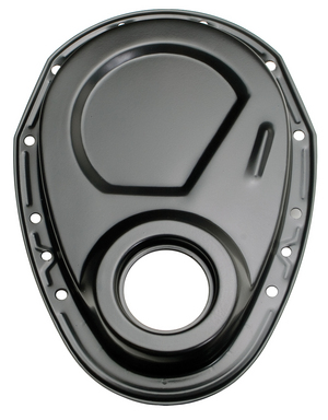 Asphalt BLACK Timing Chain Cover (only)- Chevy 4.3L V6 or SB V8 (not for LT1) picture