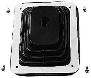 """SHIFTER BOOT- 5-5/8"""" X 6-3/4""""-CHROME Frame picture"""