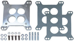"""1/2"""" Tall, Large 4BBL to small 4BBL Manifold Carburetor Adapter -Cast Aluminum picture"""