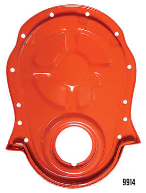 CHEVY ORANGE Timing Chain Cover (only)- 1965-90 Chevy 396-454 picture