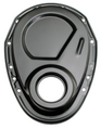 Asphalt BLACK Timing Chain Cover (only)- Chevy 4.3L V6 or SB V8 (not for LT1)