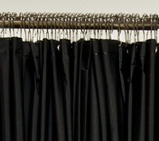 VINYL SHOWER CURTAIN, BLACK