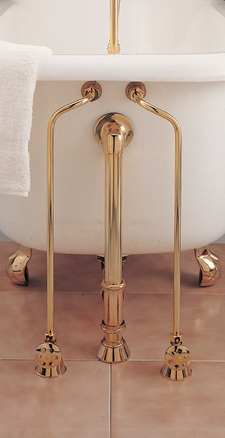 SUPERCOAT BRASS WATER SUPPLY LINES WITH SHUT OFF VALVES picture