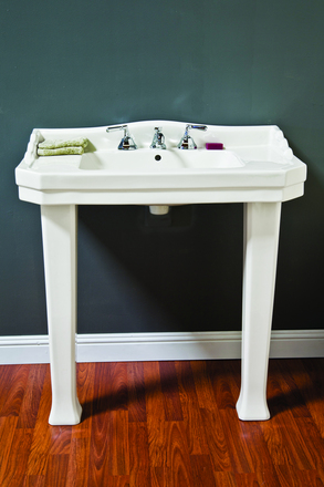 PORCELAIN CONSOLE SINK WITH LEGS picture