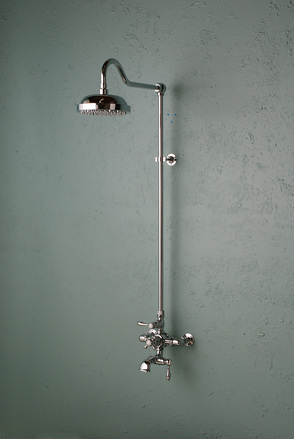 EXPOSED CHROME THERMOSTATIC SHOWER SET WITH SPOUT picture