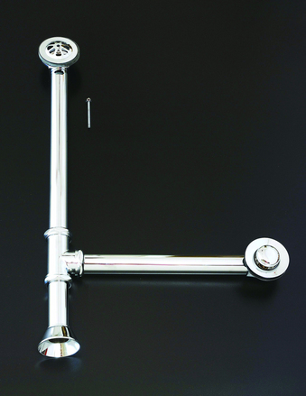 CHROME EXTENDED TOE TAP WASTE & OVERFLOW WASTE & DRAIN picture