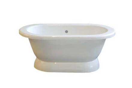 ACRYLIC 5' DUAL TUB ON PEDESTAL WITHOUT FAUCET HOLES picture
