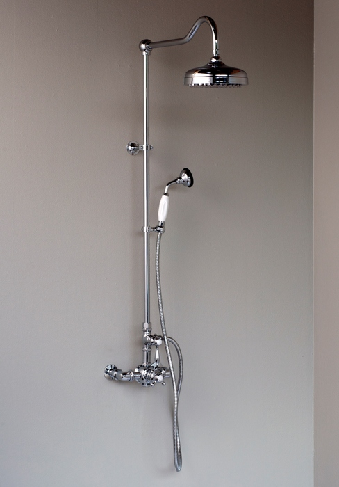 Chrome Exposed Shower Set With Handheld Cal Green Compliant Strom Plumbing By Sign Of The Crab