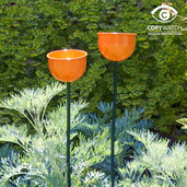 Bird Cup Feeder ( Orange )