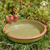 Green Dipper Bird Bath
