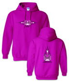 """Iron Cross Pink """"Breast Cancer"""" Hoodie"""