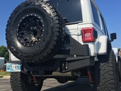 18-19 JEEP WRANGLER JL STUBBY REAR BUMPER WITH TIRE CARRIER