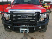 92-07 VAN E-150/250/350 FRONT BUMPER WITH FULL GRILLE GUARD