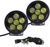 20-LEDKIT ROUND LED FOG LIGHT KIT FOR HD BUMPERS