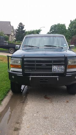 1992-1996 FORD  F-150/250/350 FRONT BUMPER FULL GUARD picture