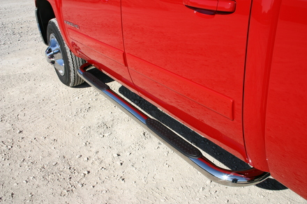 """51-516 - 3"""" Tube Step, Stainless Steel, Cab Length GMC Suburban / Yukon XL / Avalanche - 1/2 Ton Only 00-14 picture"""