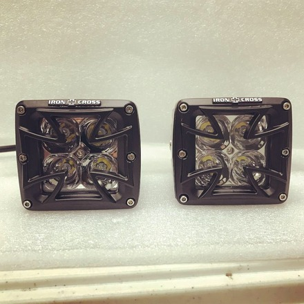 Iron Cross LED Cube Light Pair picture