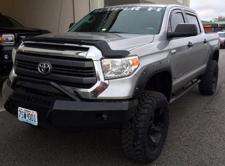 2014 TUNDRA FRONT BUMPER WITH PUSH BAR picture