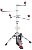 DW GO ANYWHERE PAD SET W/ STAND & 4 Red Wicked Chops Practice Pads