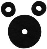 AHEAD Jet Black Wool Cymbal Felts Hi-Hat Pack