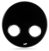 "Bass Drum O's 24"" Ebony Remo Bass Drum Head w/2- HC6"