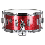 """Rogers Dyna-Sonic 6.5"""" x 14"""" Classic Snare Drum with Beavertail Lugs - Red Sparkle Lacquer"""