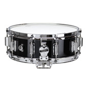 "Rogers Dyna-Sonic 5"" x 14"" Classic Snare Drum with Beavertail Lugs - Black Lacquer"