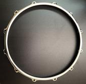 """S-Hoop 14"""" 12 Hole Chrome 3mm Marching Drum Hoop"""