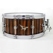 """Hendrix 14"""" x 6"""" High Gloss Macassar Ebony Snare Drum"""