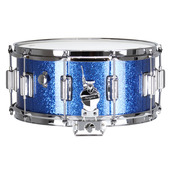 "Rogers Dyna-Sonic 6.5"" x 14"" Classic Snare Drum with Beavertail Lugs - Blue Sparkle Lacquer"