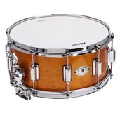"""Rogers Dyna-Sonic 6.5"""" x 14"""" Classic Snare Drum with Beavertail Lugs - Fruit Wood Stain"""