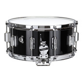 "Rogers Dyna-Sonic 6.5"" x 14"" Classic Snare Drum with Beavertail Lugs - Black Lacquer"