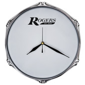 """Rogers 10"""" Drum Clock with Wall Mount"""