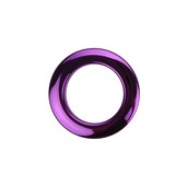 "Bass Drum O's 2"" Purple Chrome Drum O's (2 Pack)"
