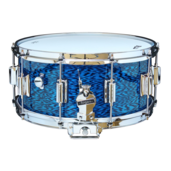 "Rogers Dyna-Sonic 6.5"" x 14"" Classic Snare Drum with Beavertail Lugs - Blue Onyx"