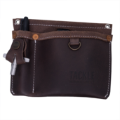 Tackle Leather Clip on Gig Pouch - Brown