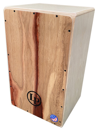 LP Groove Wire Cajon W/ Candy Stripe Padouk Face picture