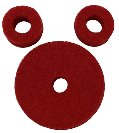 AHEAD Red Wool Cymbal Felts Hi-Hat Pack picture