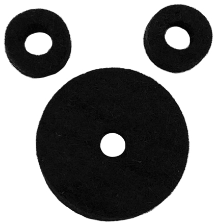 AHEAD Jet Black Wool Cymbal Felts Hi-Hat Pack picture