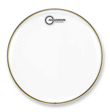 """Aquarian Classic Clear 14"""" Single Ply Drum Head picture"""