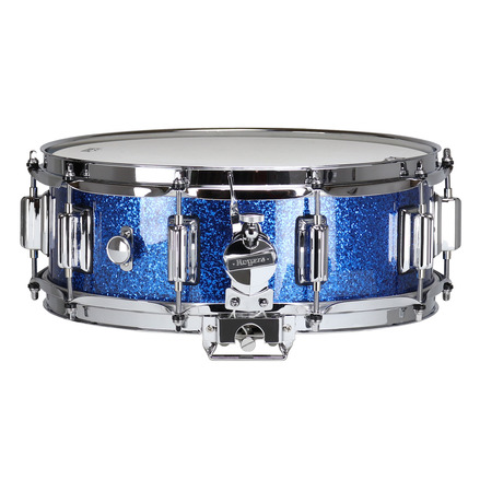 """Rogers Dyna-Sonic 5"""" x 14"""" Classic Snare Drum with Beavertail Lugs - Blue Sparkle Lacquer picture"""