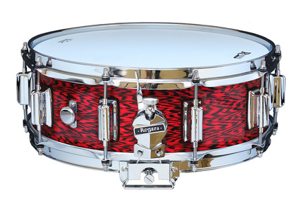 """Rogers Dyna-Sonic 5"""" x 14"""" Classic Snare Drum with Beavertail Lugs - Red Onyx picture"""
