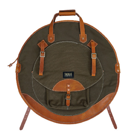 """Tackle Instrument Supply Forest Green Canvas Cymbal Bag 22"""" picture"""