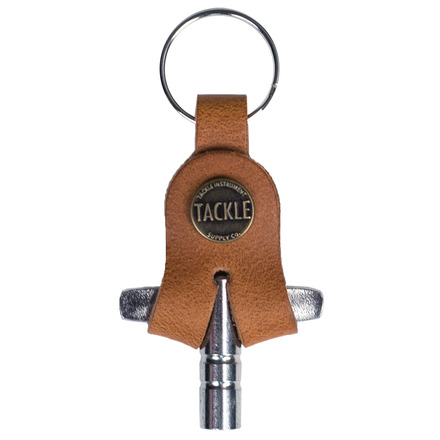 Tackle Instrument Supply Saddle Tan Leather Drum Key picture