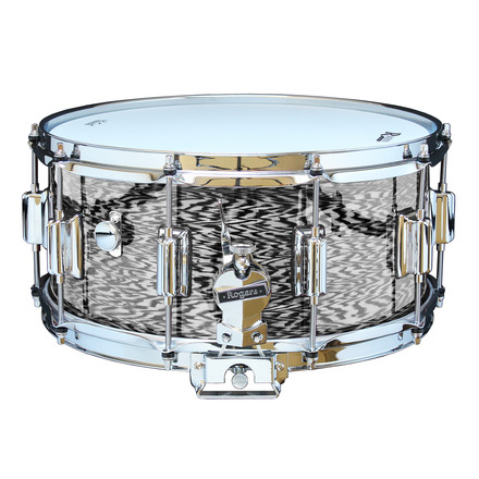 """Rogers Dyna-Sonic 6.5"""" x 14"""" Classic Snare Drum with Beavertail Lugs - Black Onyx picture"""
