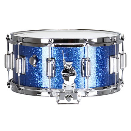"""Rogers Dyna-Sonic 6.5"""" x 14"""" Classic Snare Drum with Beavertail Lugs - Blue Sparkle Lacquer picture"""