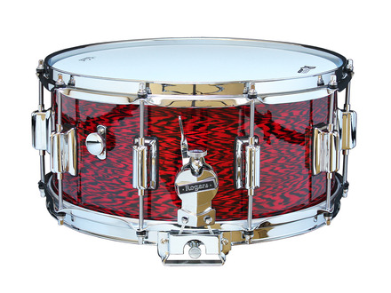 """Rogers Dyna-Sonic 6.5"""" x 14"""" Classic Snare Drum with Beavertail Lugs - Red Onyx picture"""